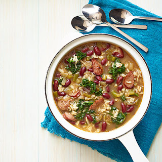 Red Beans and Rice Soup with Kielbasa