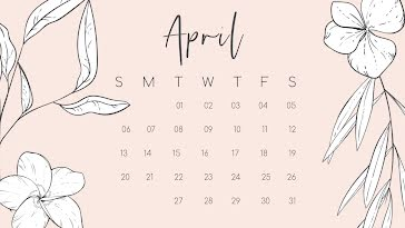 Perennial Monthly - Monthly Calendar template