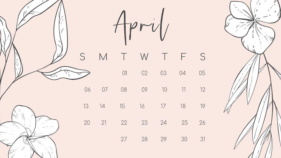 Perennial Monthly - Calendar Template