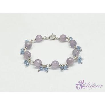 [NSS022] 紫玉水晶手鏈