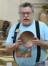 Photo: Elliot Schantz talks about his cherry bowl.