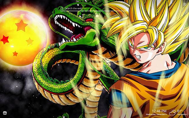 Dragon Ball Z HD Wallpapers New Tab Theme