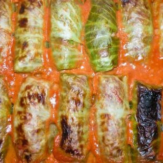 Cabbage Rolls with Sour Cream.