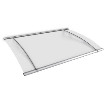 Pultbogenvordach XL 2050, Edelstahl matt gebürstet