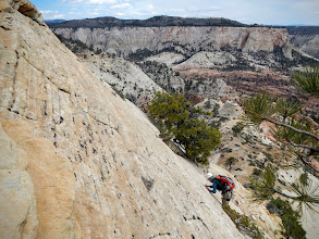 Photo: Rick finesses his way down the slab