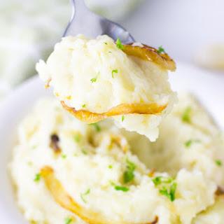 Best Garlic Mashed Potatoes with Caramelised Onions.