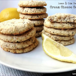 Lemon & Chia Seed Cream Cheese Cookies