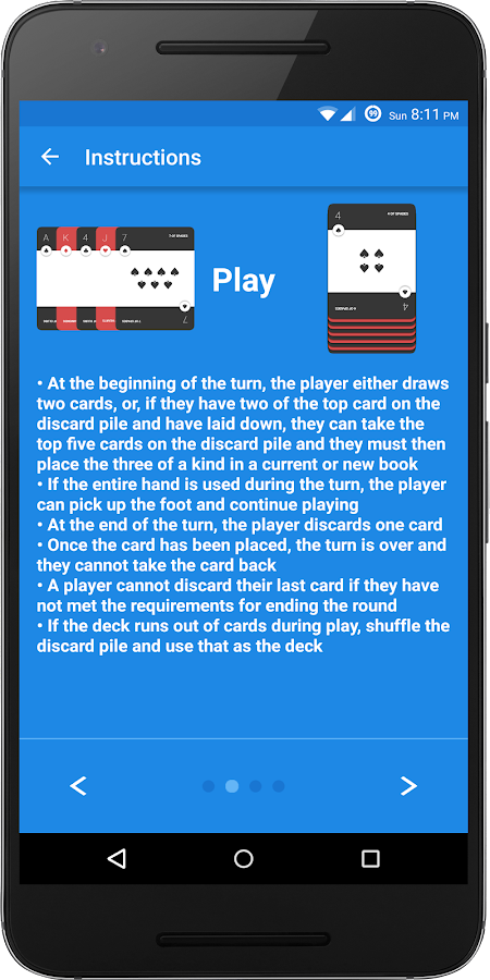 Hand and Foot Scores- screenshot
