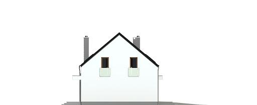 Sosnówka z garażem 1-st. bliźniak A-BL1 - Elewacja lewa
