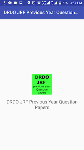 DRDO Junior Research Fellow Previous year Papers APK