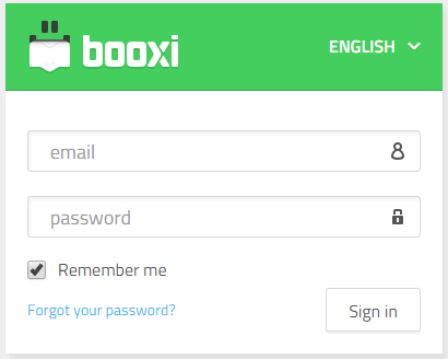 sign in your booxi account