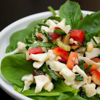 Raw Vegan Antipasto Salad.