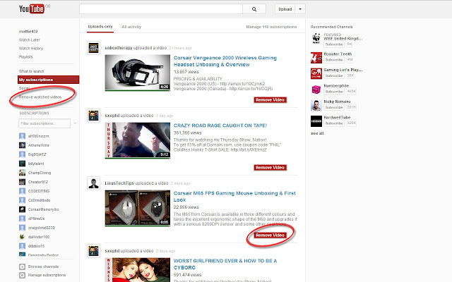 youtweak for youtube subscription manager chrome web store
