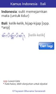Kamus Indonesia - Bali - náhled