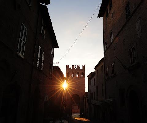 tramonto in finestra di Massimiliano zompi