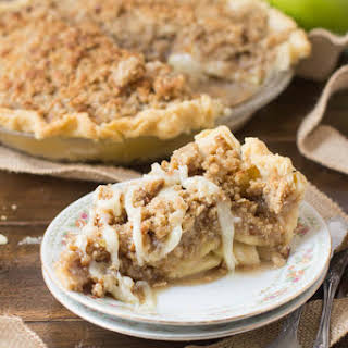 Dutch Apple Pie with White Chocolate Butter Sauce.