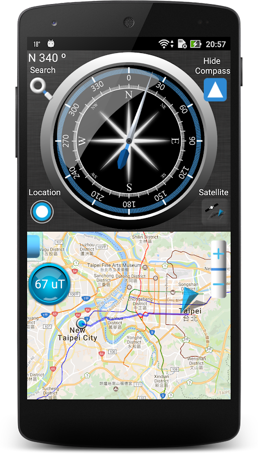 compass with maps android apps on google play. Black Bedroom Furniture Sets. Home Design Ideas