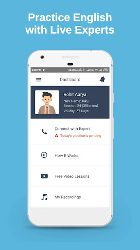 Practice English with Live Experts screenshot 1