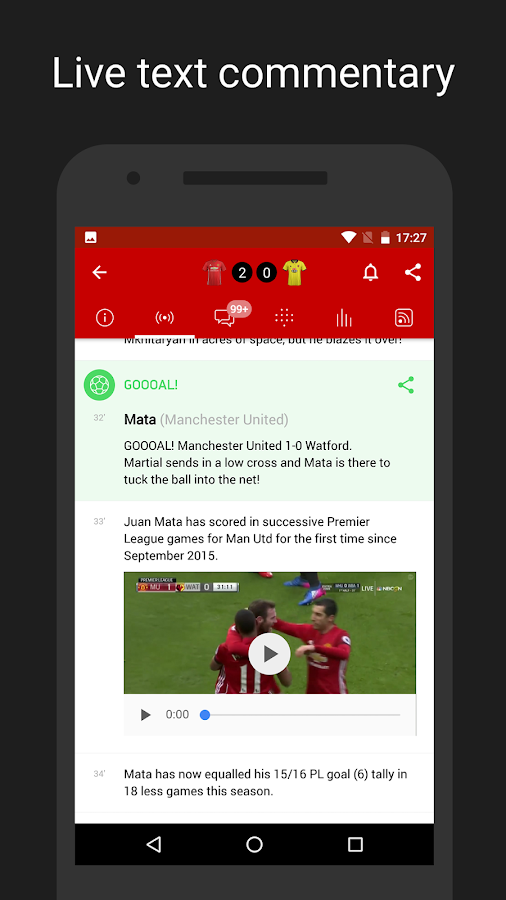 MU Live: unofficial app for Manchester United Fans- screenshot