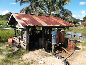 Photo: Our Water pump engine (old model of John Deere)