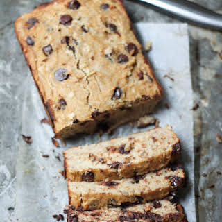 Chocolate Chip Coconut Flour Banana Bread (gluten free, paleo!).