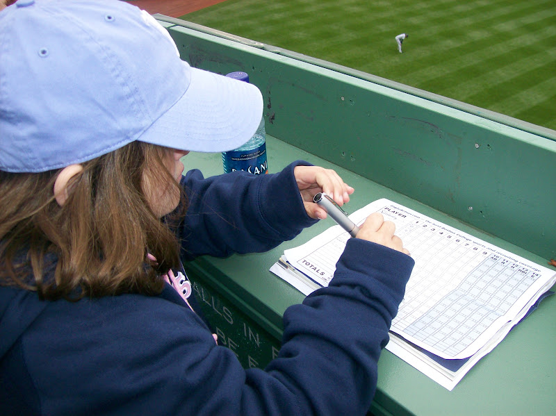 Photo: Keeping score is serious business..