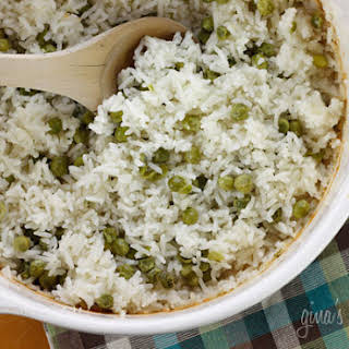 Baked Rice and Peas.