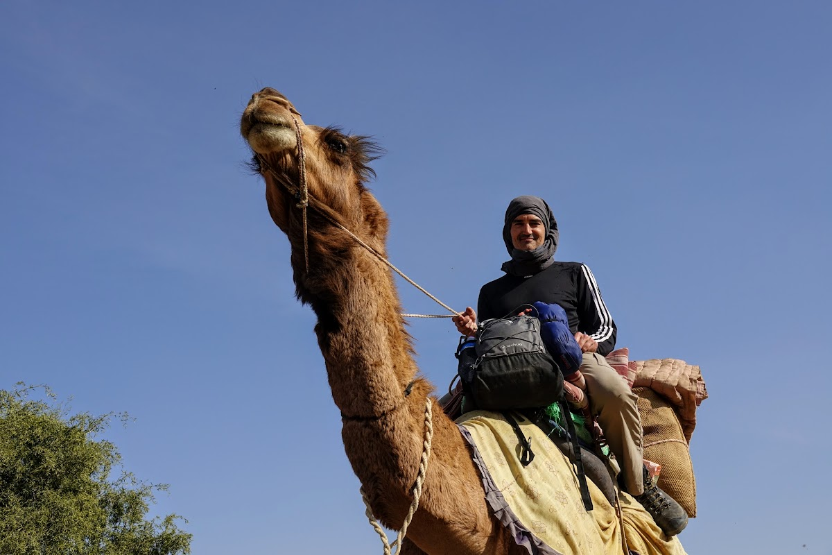 Thar. Desert Camel Trekking Day 3. Bruno and Papoo
