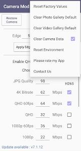 Camera Mod S8 - Bitrate & Settings [ROOT] 2.08 (Retail)