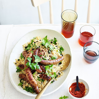 Merguez Sausages with Harissa and Couscous Recipe