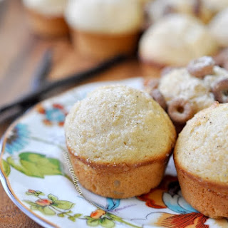 Vanilla Bean Malted Mini Muffins.