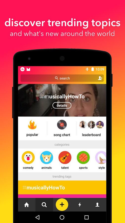 Screenshots of musical.ly for iPhone