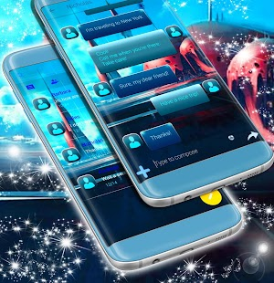 Alien Theme Free For SMS - náhled