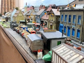 Photo: 009 Howard has done a considerable amount of work to Beaulieu Les Mines since the last time I saw it and has opened up the viewpoint along the front of the baseboard, considerably improving the scene .