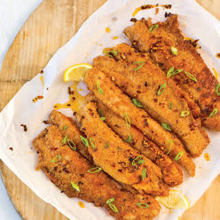 Pecan-Crusted Speckled Trout with Chile-Lemon Oil.
