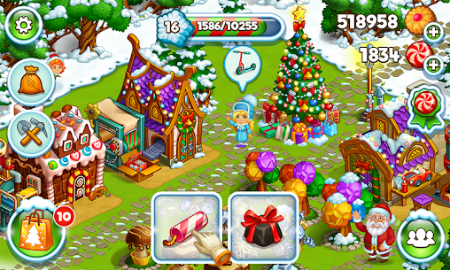 Farm Snow: Happy Christmas Story With Toys & Santa 5