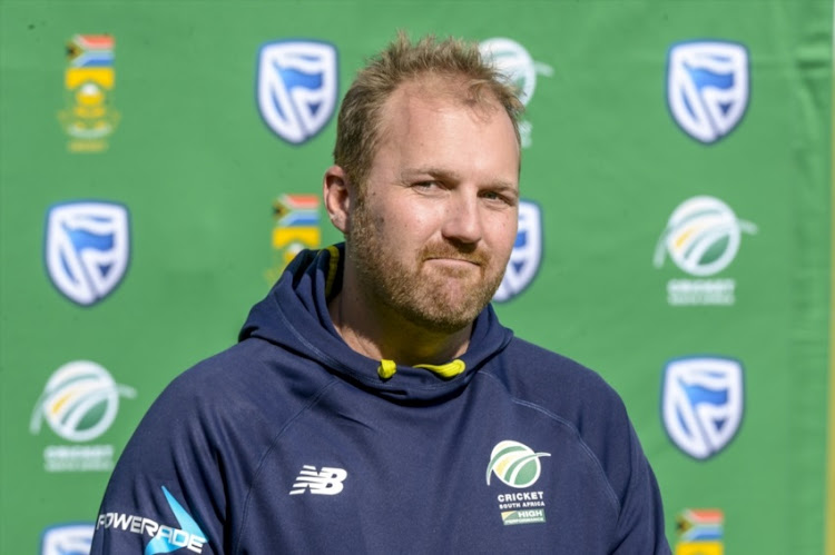 Shaun Von Berg of the Proteas during the Standard Bank Proteas Media Opportunity at TUKS Cricket Oval on June 12, 2018 in Pretoria, South Africa.