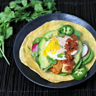 Sweet Potato Pinto Bean Breakfast Taco.