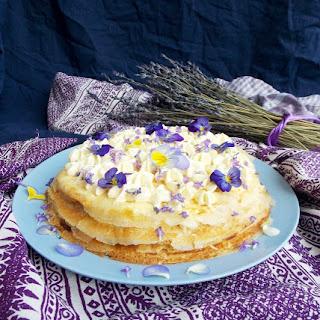 Mascarpone Apricot Lavender Crepe Cake