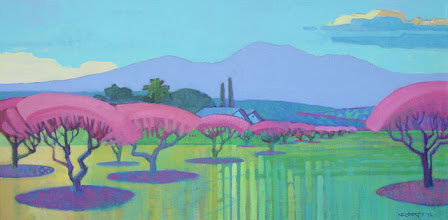 Photo: Brentwood Spring, acrylic on canvas by Nancy Roberts, copyright 2014. Private collection.