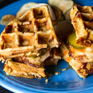 Chicken and Waffle Sandwiches.