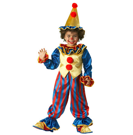 Barndräkt, clown 122/128 cl
