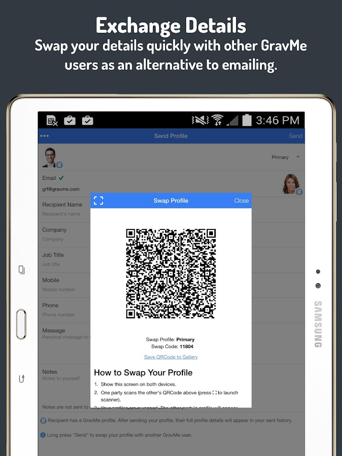 GravMe Digital Business Cards. - Android Apps on Google Play