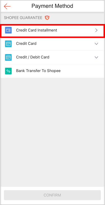 How do I make a payment using credit card for Installment Plan?