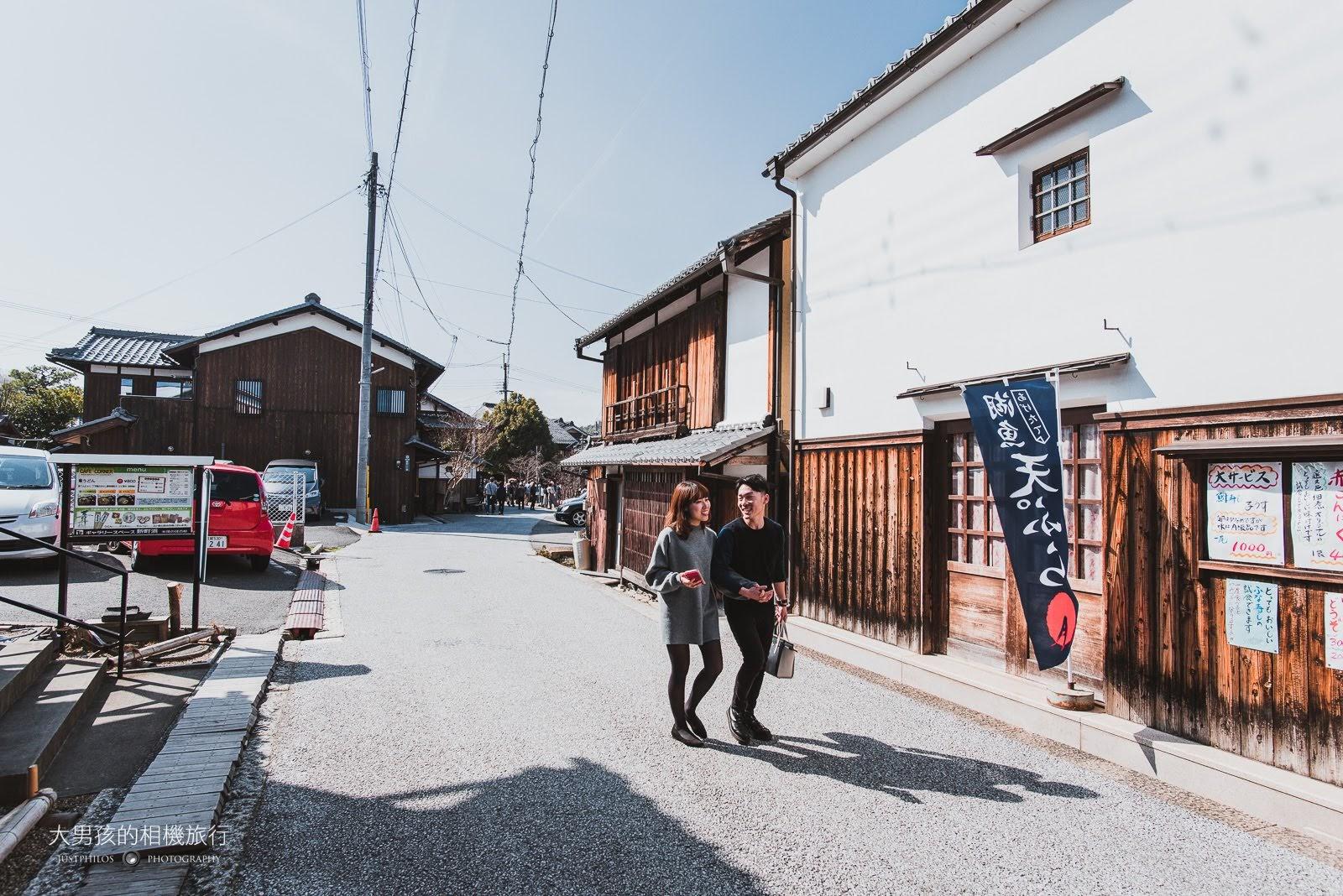 兩旁的日式古屋則是商業區與住宅區,有一些不錯的小店記得來晃晃。