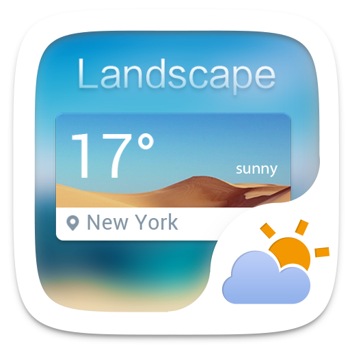 Landscape Weather Widget Theme 個人化 App LOGO-硬是要APP
