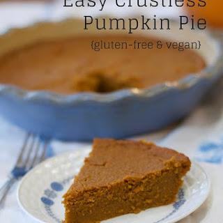 Easy Crustless Pumpkin Pie.