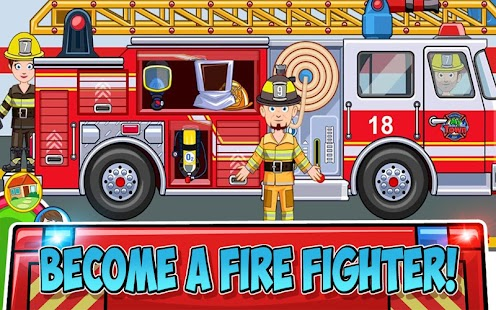 My Town : Fire station Rescue- screenshot thumbnail