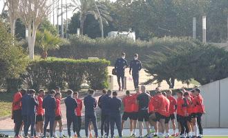 El entrenamiento del Almería 23 de febrero