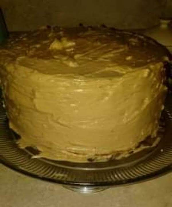 White Velvet Buttermilk Cake With Chocolate French Butter Cream Frosting